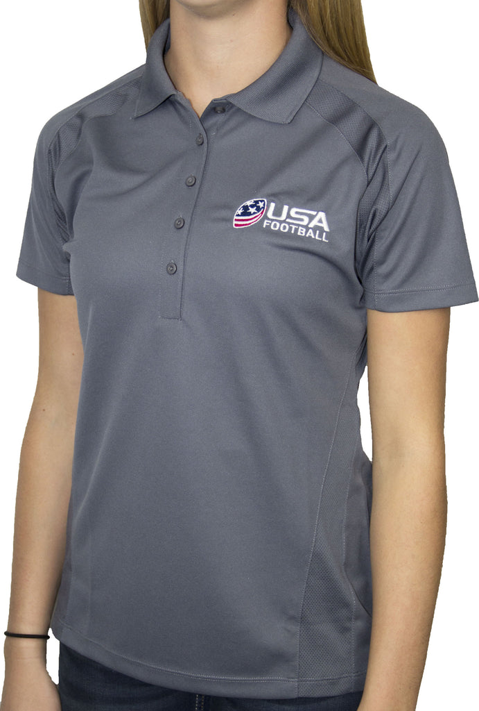 Women's USA Football Dri-Mesh Polo - Gray
