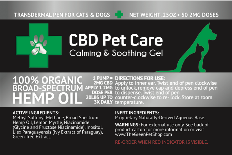 CBD Pet Care Transdermal Pen - (100mg CBD)