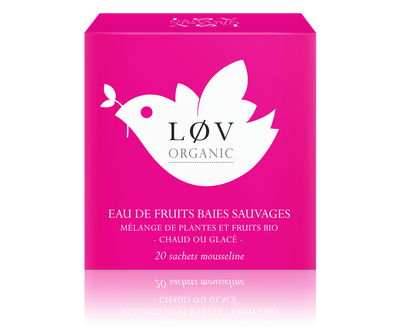 "EAU DE FRUITS ""Baies Sauvages"" - LØV ORGANIC"