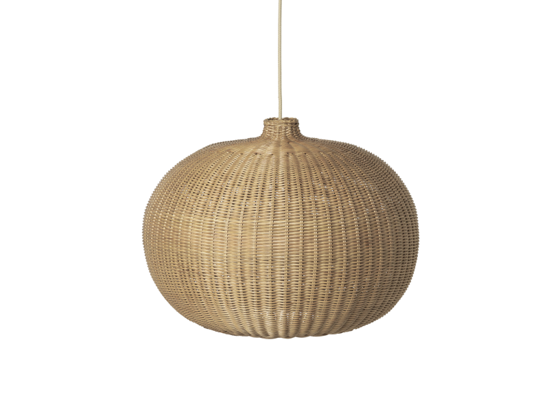 Braided Belly Lamp Shade - Natural FERM-100448206