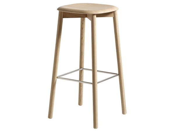SOFT EDGE 32 BAR STOOL HIGH WOOD FRAME