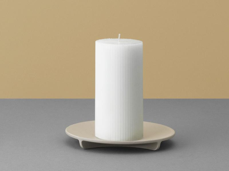 Fe Block Candle Holder