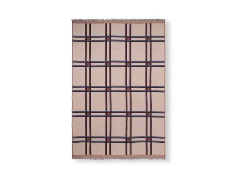 Checked Wool Blend Blanket FERM-7141