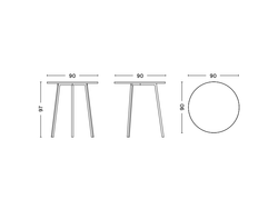 LOOP STAND HIGH ROUND TABLE