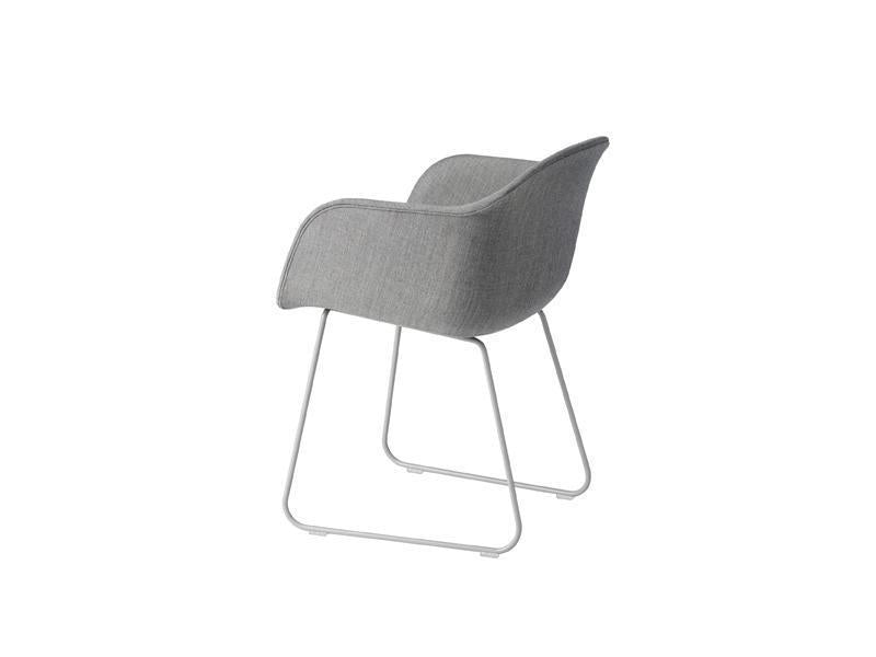 Fiber Armchair Sled Base Full Upholstery