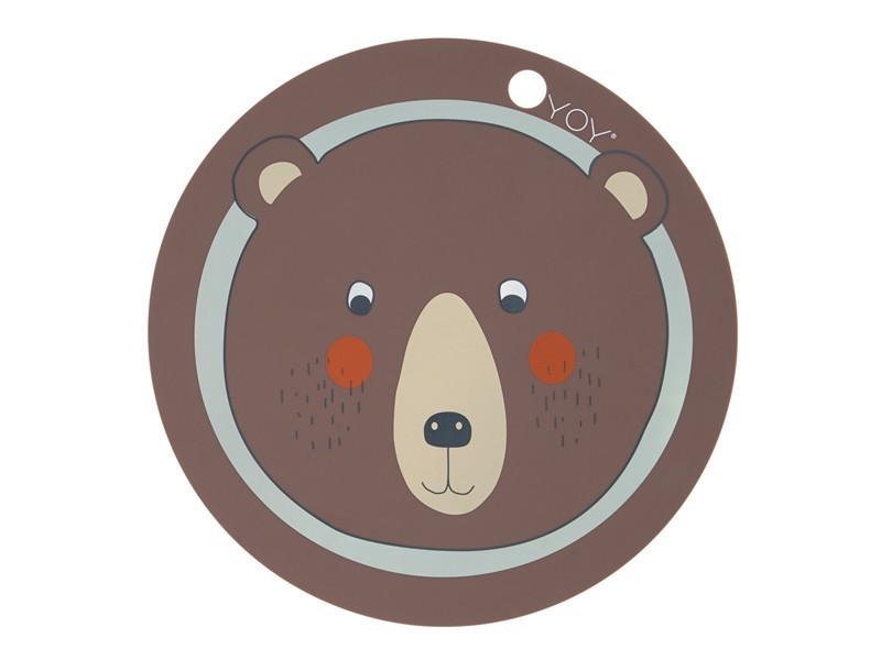PLACEMAT BEAR BROWN  ☺