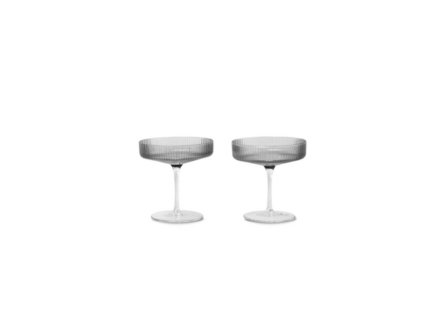 Ripple Champagne Saucers - Set of 2 - Sm FERM-100126112