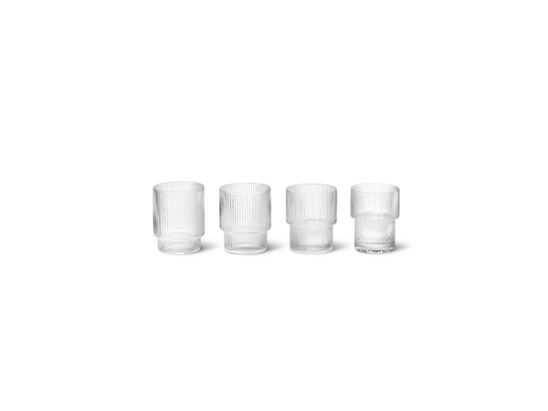 Ripple Glass (set of 4) FERM-5438