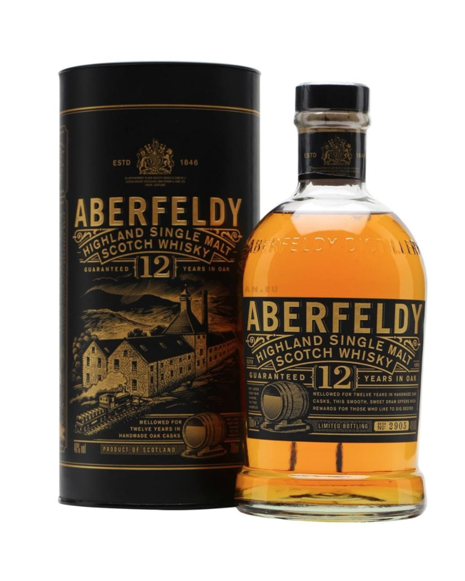 Scotch whisky single malt Aberfeldy 12 ans d'age 70cl