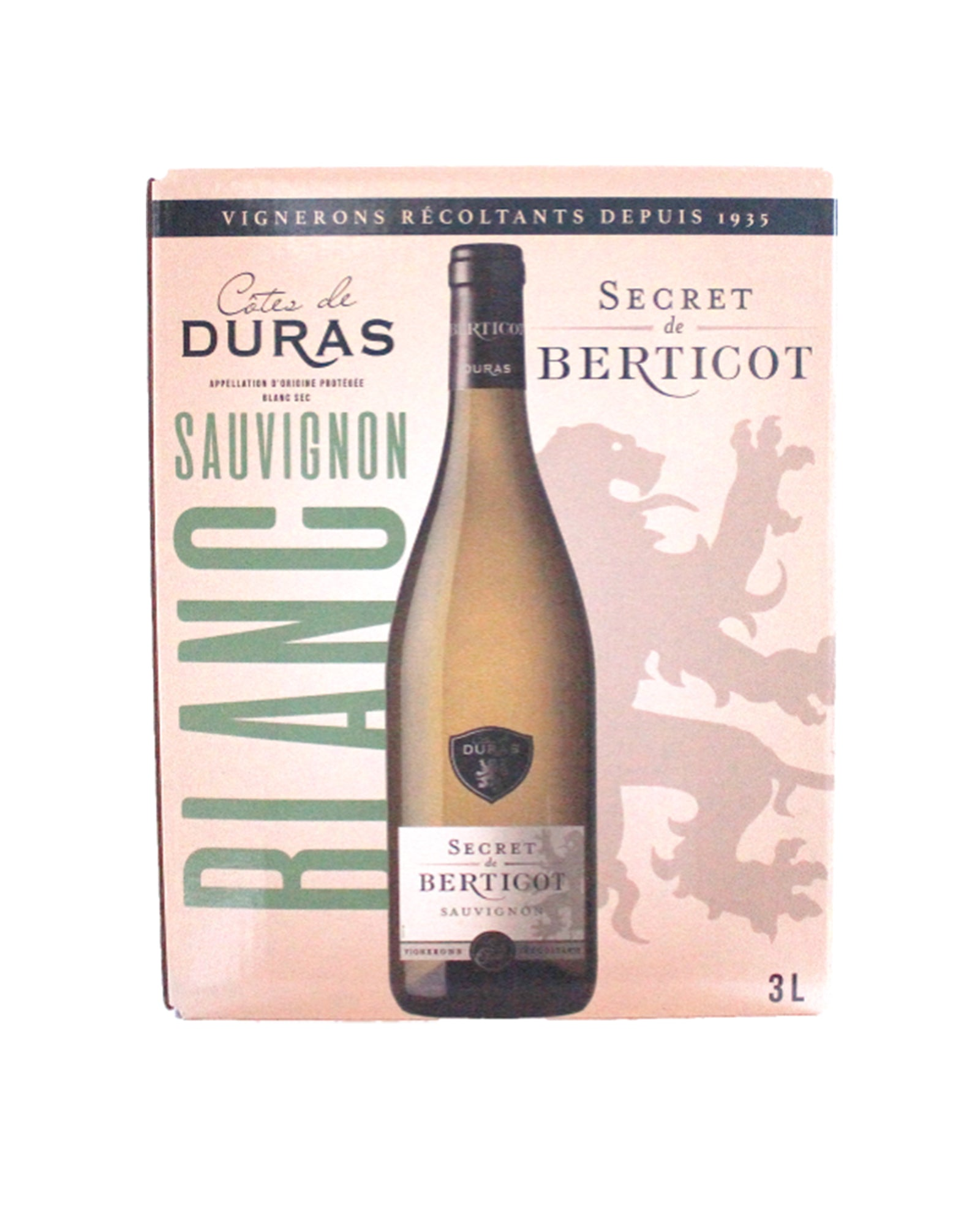 Côtes-De-Duras sauvignon blanc Secret de Berticot bag in Box 3 litres