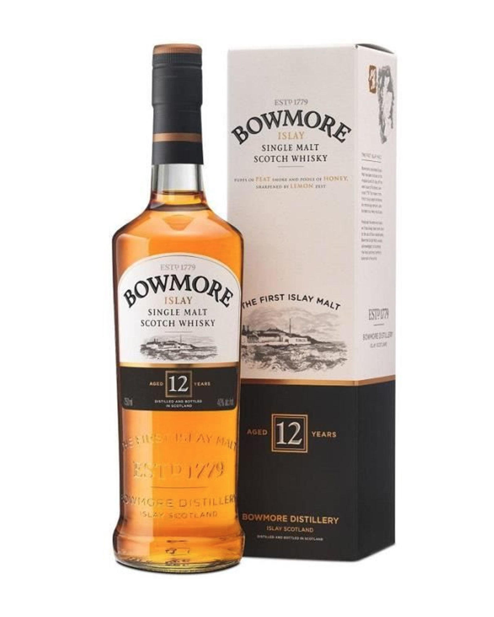 Scotch whisky single malt Bowmore 12 ans d'age 70cl