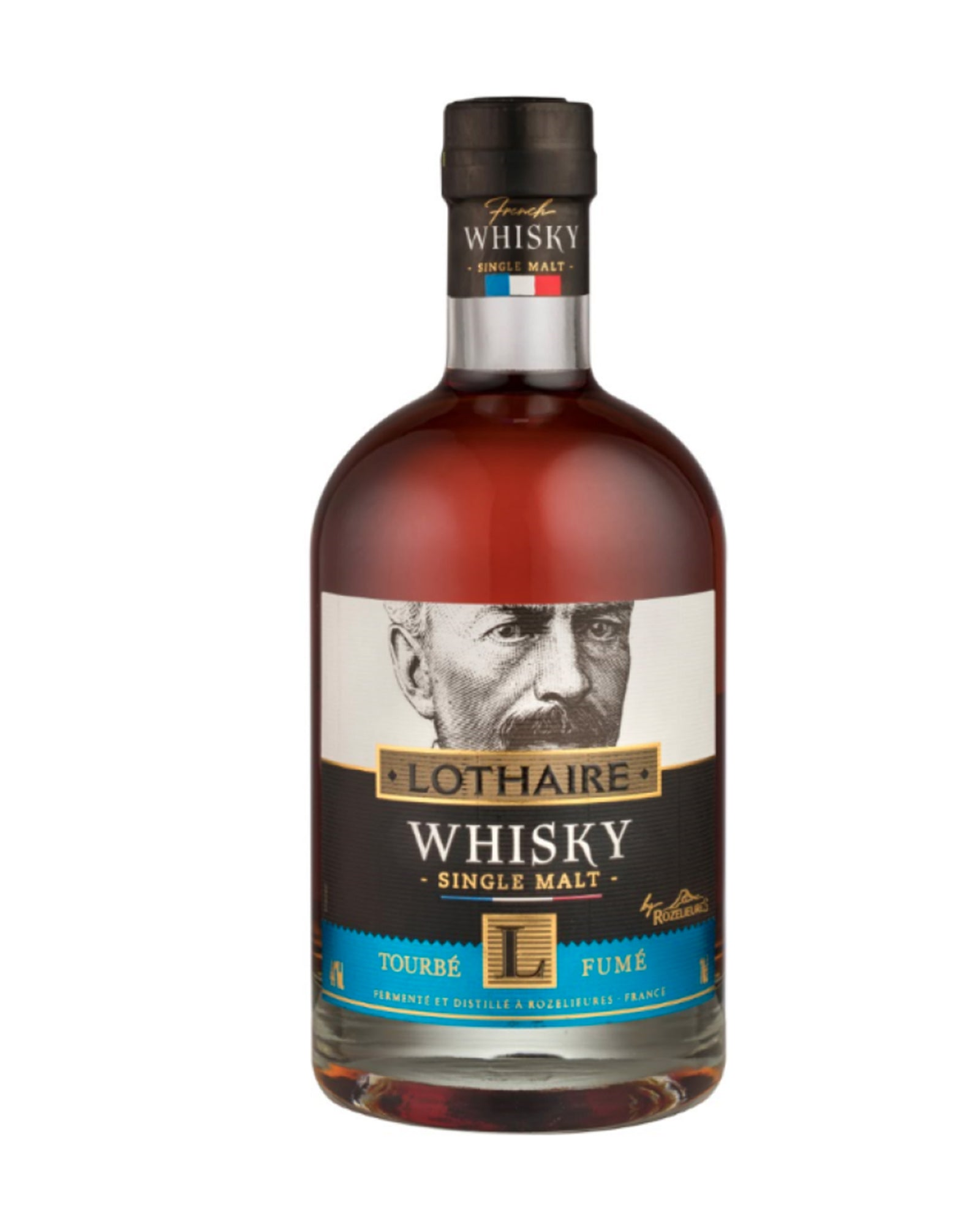 Whisky français single malt Lothaire tourbé fumé 70cl