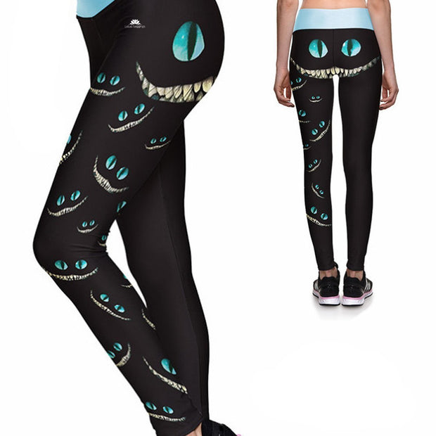 Wildflowers Athletic Yoga Leggings from DiaNoche Designs by David Lloyd Glover