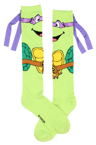 Teenage Mutant Ninja Turtles Character Mask Knee High Socks