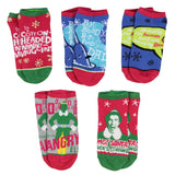 Elf The Movie Buddy The Elf Sayings 5 Pairs Of Mix And Match No Show Ankle Socks For Women