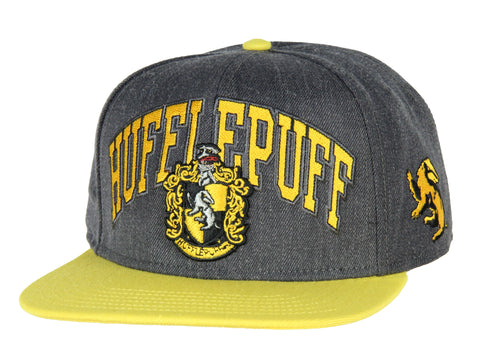 Harry Potter Hufflepuff Embroidered House Crest Adjustable Snapback Hat Cap