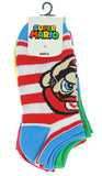 Super Mario Unisex Game Inspired 5 Pair Mix and Match Ankle Socks - Seven Times Six