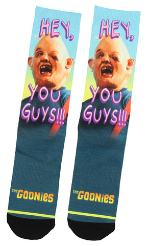 The Goonies Hey You Guys!! Sloth Character Sublimated Adult Crew Socks