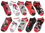 DC Comics Harley Quinn Adult Character Themed Designs 5 Pack Mix and Match No Show Ankle Socks