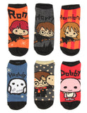 Harry Potter Chibi Character Designs 6 Pack Men And Women Ankle Socks