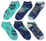Captain Marvel Adult Goose The Cat Kree Colors 3 Pack Mix and Match No Show Ankle Socks