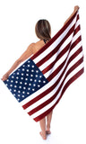American Flag USA Cotton Beach Towel