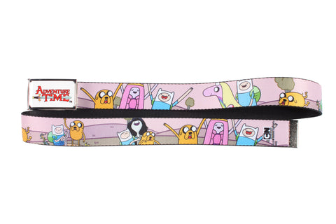 Adventure Time Character Cast Web Belt with Logo Buckle