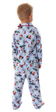 Peanuts Toddler Boys' Snoopy And Charlie Brown Holiday Woven Button-Up Coat And Pants 2 Piece Pajama Set