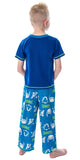 Sonic The Hedgehog Boys' Pajamas 3 Piece Shirt Shorts And Pants Video Game Sleepwear Loungewear Pajama Set