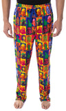 Star Wars Pajamas Men's Warhol Pop Art Characters Square Design Loungewear Sleep Pajama Pants