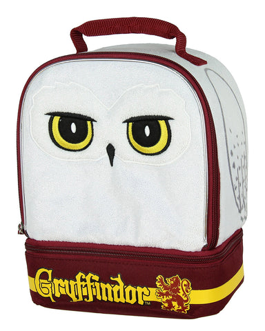 Harry Potter Hedwig the Owl Gryffindor House Dual Compartment Insulated Lunch Box Tote Bag