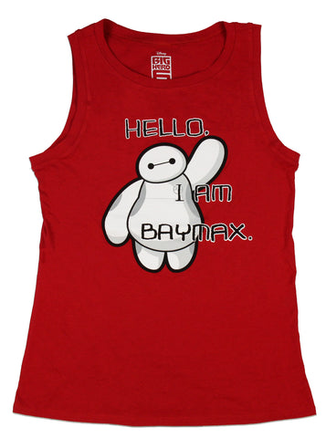 Disney Junior's Big Hero 6 Hello I'm Baymax Muscle Tank Top