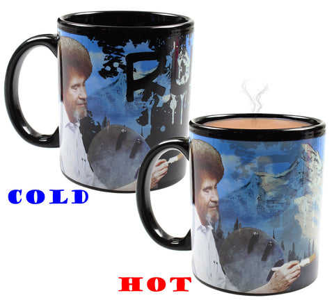 Bob Ross Mug Coffee Heat Changing Painting Ruined Saved