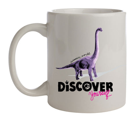 Jurassic Park Discover Yourself Dinosaur Ceramic Coffee Mug 11 Oz. Beverage Cup