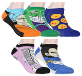 Dragon Ball Z Character Anime Socks 5 Pack No Show Low-Cut