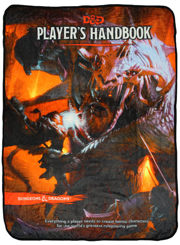 Dungeons And Dragons D&D Player's Handbook Fifth Edition Design Plush Throw Blanket