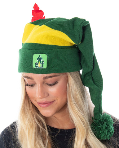 Elf The Movie Adult Buddy The Elf Character Costume Long Pom Beanie
