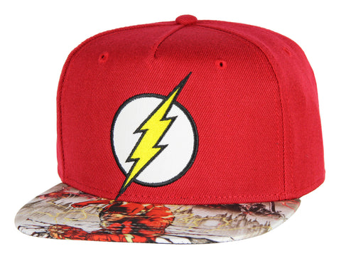 DC Comics Flash Hat Kids Embroidered Logo Photoreal Youth Snapback Cap