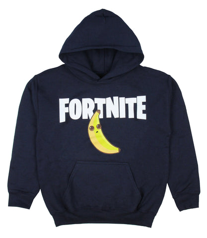 Fortnite Boys' Title Logo With Peely Licensed Sweatshirt Pullover Hoodie
