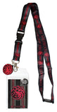 Game of Thrones House Targaryen Lanyard ID Holder & Charm Badge With Sticker