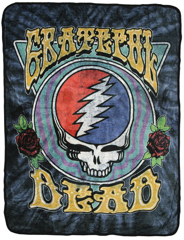 Grateful Dead Steal Your Face Super Soft And Cuddly Fleece Plush Throw Blanket