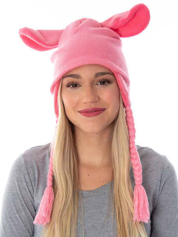 A Christmas Story Adult Deranged Easter Bunny Costume Laplander Beanie Cap Hat