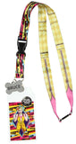 Birds Of Prey Harley Quinn ID Lanyard with Detachable Badge Holder, Rubber Charm, And Collectible Sticker - Seven Times Six