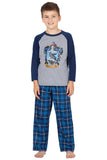 Harry Potter Pajamas Little And Big Boys' Raglan Shirt And Plaid Pants Set -Gryffindor, Ravenclaw, Slytherin, Hufflepuff