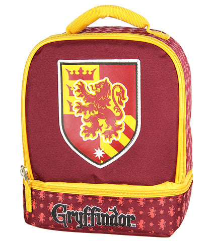 Harry Potter Lunch Box - Gryffindor, Slytherin, Ravenclaw, Hufflepuff Insulated Dual Compartment Tote Bag