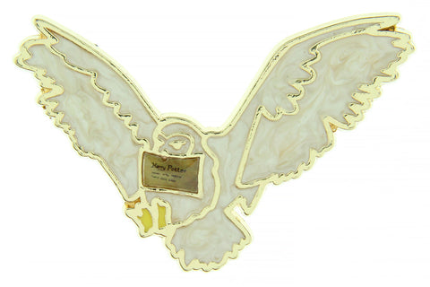 Harry Potter Hedwig Owl With Hogwarts Acceptance Letter Broche Brooch Enamel Pin