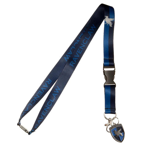 "Harry Potter Ravenclaw Lanyard, Multicolor, 25"" w/ Charm and Detachable ID Holder"