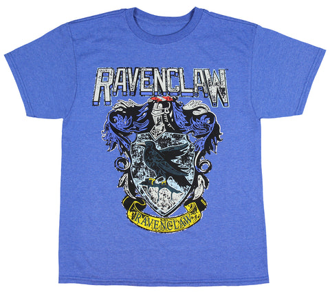 Harry Potter Ravenclaw Shirt Kids Boys Distressed House Crest T-Shirt
