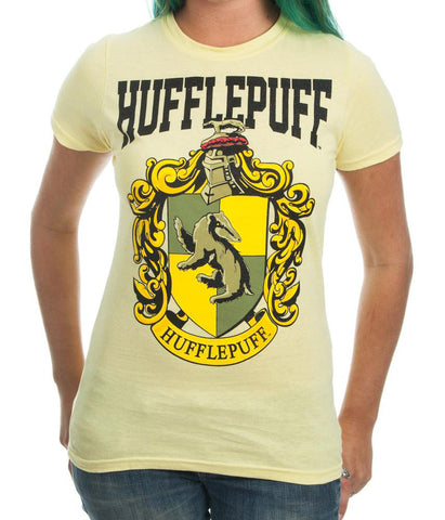 Harry Potter Hufflepuff House Juniors T-shirt (Yellow, 3-XLarge)