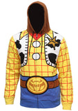 Disney Pixar Toy Story Men's I Am Woody The Cowboy Sheriff Costume Adult Sweatshirt Zip Hoodie - Seven Times Six